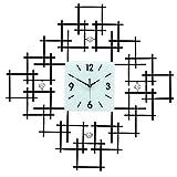 Vinteen Reloj de pared con piedras preciosas de cristal artesanal con cuentas Reloj de pared con formas modernas Sala de estar creativa con estilo de hierro europeo Personalidades decorativas de arte simple de hierro
