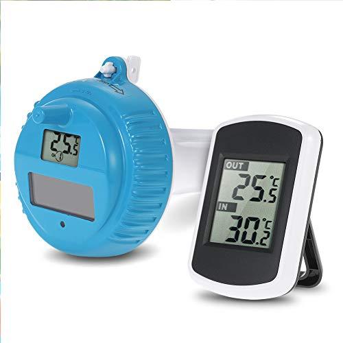 Thermomètre de piscine numérique solaire pour piscine - Thermomètre numérique solaire - Pour surveiller la température de l'eau dans une piscine, un bassin ou une piscine