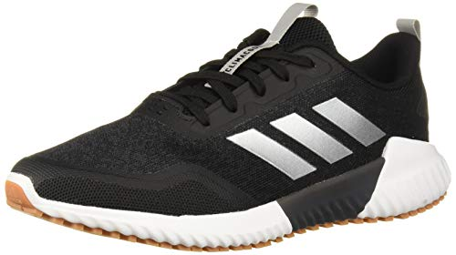 adidas Men's Edge Runner Running Shoe, Black/Silver Metallic/Carbon, 11 Medium US