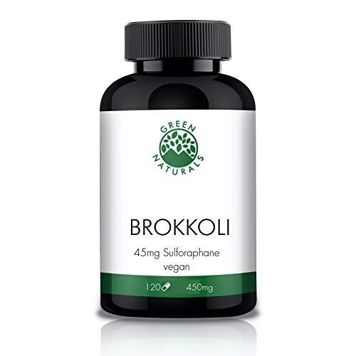 Brokkoli Extrakt (120 Kapseln á 450mg) - Deutsche Herstellung - 10% Sulforaphan 45mg - 100% Vegan - Ohne Zusätze