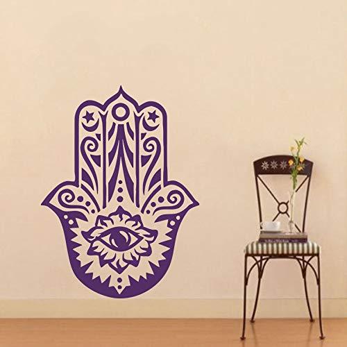 hetingyue Home wandaufkleber Vinyl Aufkleber Yoga Hand Buddha wandbild wandaufkleber Schlafzimmer Aufkleber 40x60cm