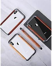 iPhone XS ケース アイフォンX 対応 Uovon 天然木 アルミバンパー ダブル構造 木製フレー カメラ保護