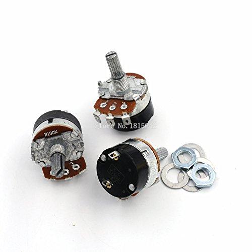 5PCS/LOT WH138-1 B100K EinstellBarer Widerstands GeschwindigkeitsRegler mit Schalter-Potentiometer WH138 100K