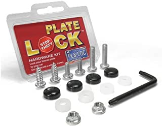 Au-Tomotive Gold, INC. Auto License Plate and License Frame Black Lock Screw Hardware Kit