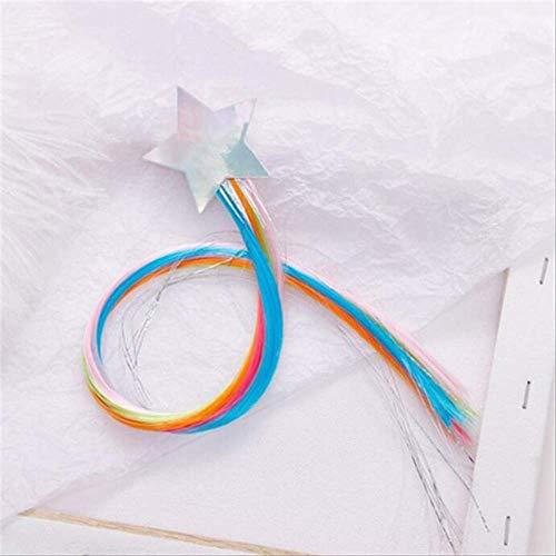 Child Twist Hair Clip Simple Barrette Butterfly Unicorn Hair Rope Accessories Kids Wig Rope Hair Head Wear 40cm star