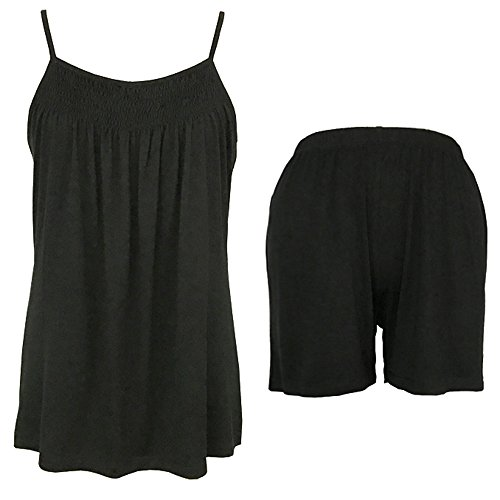 New Sleepy Time Women's Bamboo Pajamas, Night Sweat Moisture Wicking Sleepwear (Large, Black)