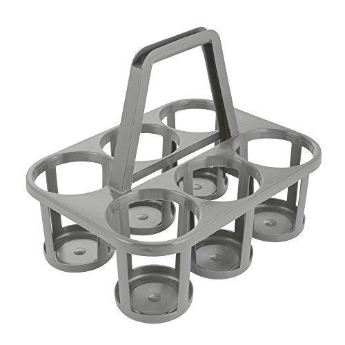 keeeper Flaschenträger 6-fach, Polypropylen, Grau/Granit, 34 x 26 x 28 cm