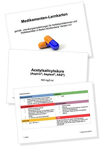 Medikamenten-Lernkarten für Notfallsanitäter/Rettungsdienst - mit Aufbewahrungsbox