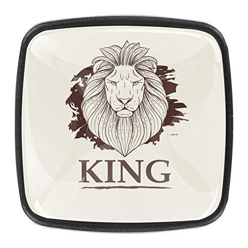 4 pomos redondos de cristal para cajones de 30 mm para armarios y cajones, de King Lion_Монтажнаяя Область 1