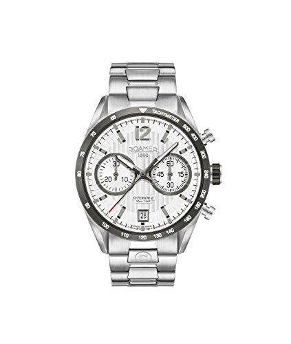 Roamer Herren Chronograph Quarz Uhr mit Edelstahl Armband 510902 41 14 50