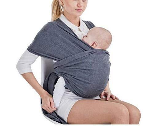 Tragetuch Baby elastisch für Neugeborene und Kleinkinder, Babytragetuch Kindertragetuch Baby Bauchtrage Sling Tragetuch für Baby Neugeborene Innerhalb 16 KG von VOARGE (grau)