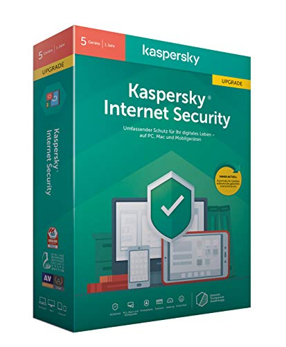 Kaspersky Internet Security 2020 Upgrade | 5 Geräte | 1 Jahr | Windows/Mac/Android | Aktivierungscode in Standardverpackung