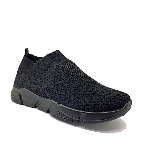 Zapatillas Deportivas Mujer Knit sin Cordones Super Adaptable Suela Negra