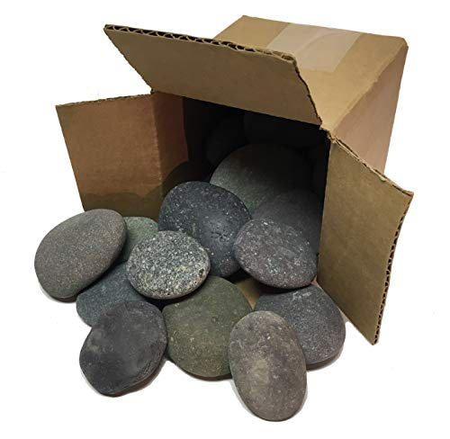River Rocks for Painting | Kindness Painting Rocks | Kids Arts & Crafts | Kids Toys | Approx. 20 Black Rocks | Rock from Approx. 2.0 to 3.5 inches