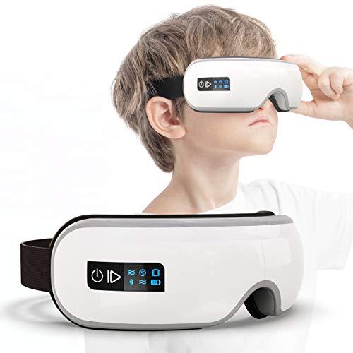 エア アイウォーマー 恒温加熱 多周波振動 子供モード ホットアイマスク Bluetooth音楽機能 目元エステ
