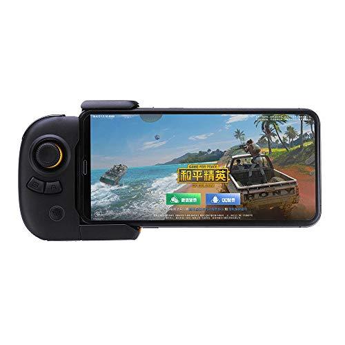 Hojkl Contrôleur de Jeu Gamepad Bluetooth for PUBG Games Mobile Game Controller Automatique for iOS Android Pression Téléphone Gamepad (Color : Yellow, Size : One Size)