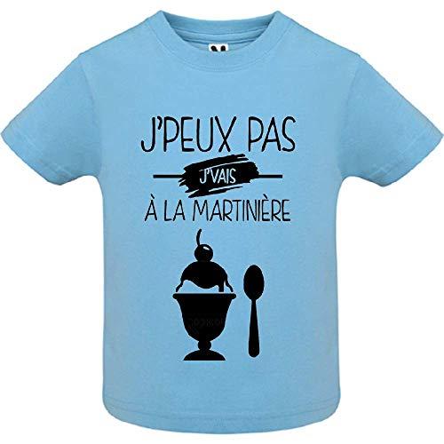 LookMyKase T-Shirt - J Peux Pas j Vais a la martinie re - Bébé Garçon - Bleu - 12mois