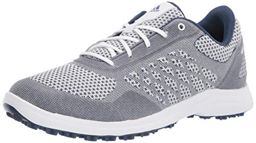 adidas Women's FW7483 Golf Shoe, FTWR White/Tech Indigo/Savannah, 6.5