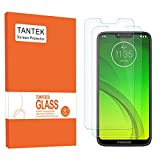 TANTEK [2-Pack] Screen Protector for Motorola Moto G7 Power,6.2-Inch,Tempered Glass Film,Ultra Clear,Anti Scratch,Bubble Free,Case Friendly