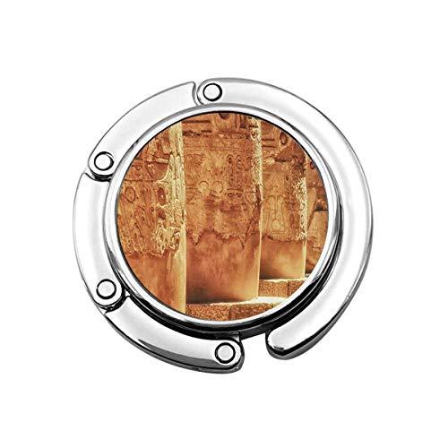 Netter Faltbarer Geldbeutel-Aufhänger für Tisch, Geldbörsenhaken Große Hypostyle-Halle an den Tempeln von Luxor Ancient