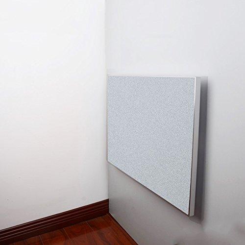 Feifei Tableau de Feuille de Baisse fixé au Mur, Bord Se Pliant d'alliage d'aluminium de Table de Salle à Manger de Cuisine avec 3 Tailles (Couleur : Gris Argent, Taille : L 80*W50CM)
