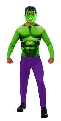 Marvel - Disfraz de Hulk para hombre, Talla XL adulto (Rubie