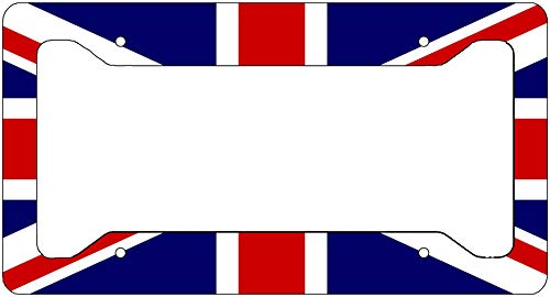 Rogue River Tactical UK United Kingdom Flag License Plate Frame Novelty Auto Car Tag Vanity Gift Union Jack British