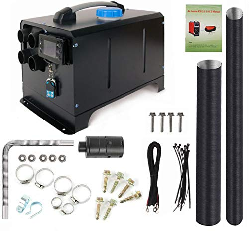 12V 5KW Diesel Air Heater | Diesel Parking Heater Muffler | Automotive Diesel Air Conditioning Heater with LCD Thermostat Monitor for RV, Snow Plow, Motorhome, Trailer, Trucks, Boats (Black)