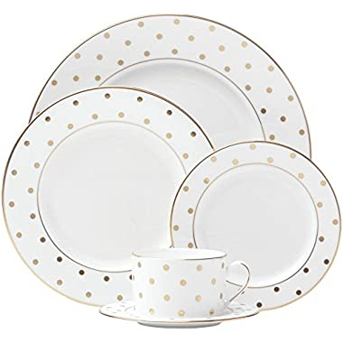 kate spade new york Larabee Road Gold Dinnerware 5-Piece Place Setting