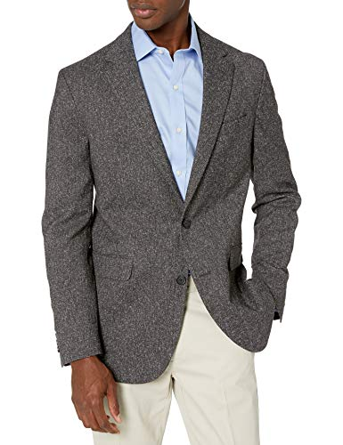 Dockers Men's 360 Smart Flex Blazer, Grey Tweed, 54 Long