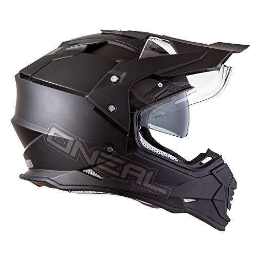 O\'NEAL Sierra II Adventure Enduro MX Motorrad Helm Flat schwarz 2020 Oneal: Größe: L (59-60cm)