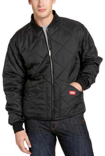 Dickies Men's Diamond Quilted Nylon Jacket, Black, 2X-Large