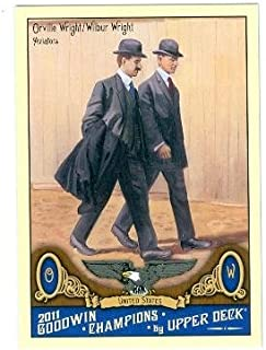 Orville Wright and Wilbur Wright trading card 2011 Upper Deck Goodwin Champions #169