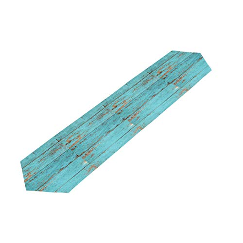 MOMOYU - Camino de mesa de madera, antideslizante, resistente al calor, fiesta, boda, cocina, cena, campo, campo, decoración de mesa de picnic al aire libre, 33 x 177 cm
