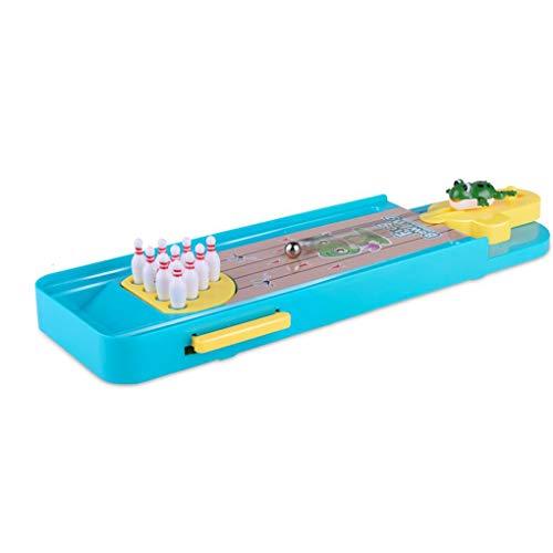 Rekkles Indoor Mini-Desktop-Bowling-Spiel Mini-Finger-Katapult Frosch Bowling Tisch Launch Pad Game Launcher Spielzeug
