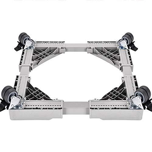 ZR- 4-Befestiger/4 Mobile Verstellbare Basis,Für Kühlschrank Waschmaschine Erhöht Edelstahl Multifunktionale Haltbare Halterung/Lastaufnahme 300KG (Farbe : Universal Wheel)