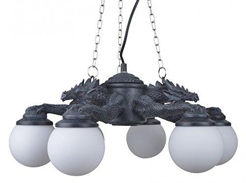 Joh.Vogler GmbH Prachtvolle 6 armige Drachen Deckenlampe Drache Lampe
