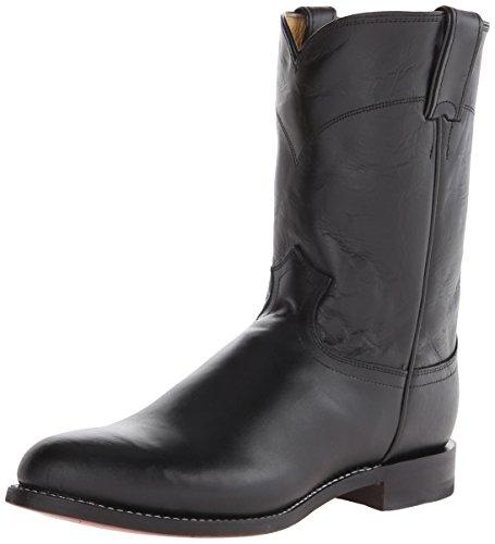 Justin Boots Men's Ropers Equestrian Boot black Size: Wide