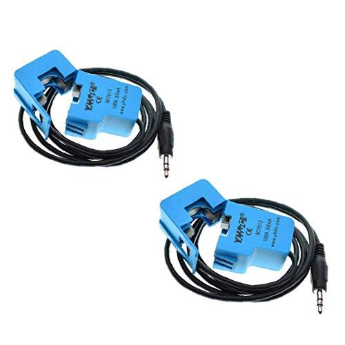 Núcleo dividido transformador de corriente SCT-013-000 no invasiva AC 100A del sensor de corriente para AC Motors 2 piezas