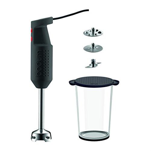 BODUM K11179-01EURO-3 BISTRO SET pied mixeur électrique avec accessoires, 300 W
