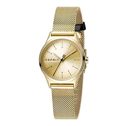 Esprit Damen Analog Quarz Uhr mit Edelstahl Armband ES1L052M0065