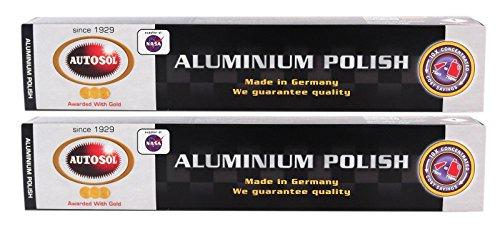 Autosol 2X Aluminium Polish Aluminiumpolitur Politur Alu Reiniger Paste 75 ml