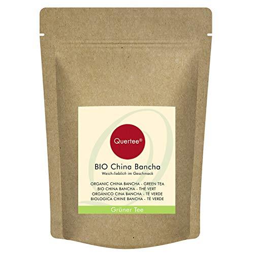 Bancha Tee Bio China | Weich lieblich im Geschmack | Bio Grüntee | Grüner Biotee von Quertee (200 g)