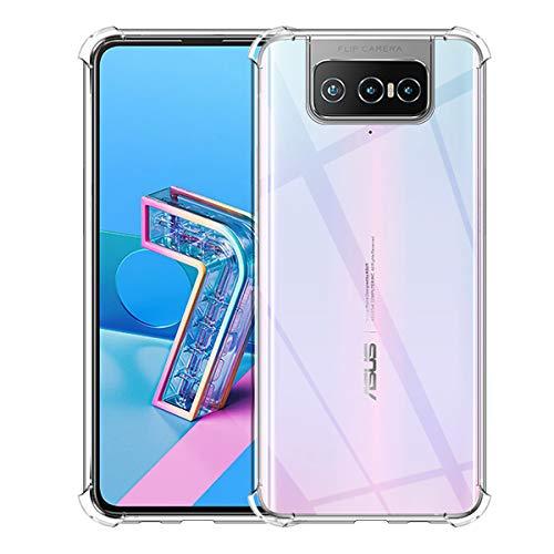 Aerku Hülle für ASUS ZenFone 7 / ZenFone 7 Pro, Rundumschutz [Kratzfest] [Anti-Fall] [Stoßdämpfung] Ultra-dünne TPU Silikon Gel-Abdeckung Transparent Case Handyhülle für ZenFone 7 Pro[Transparent]