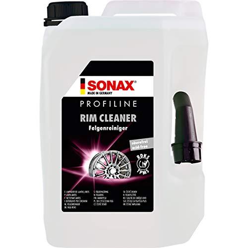 SONAX 02305000 PROFILINE FelgenReiniger säurefrei (5 Liter) entfernt Bremsstaub von Stahl sowie Leichtmetallfelgen | Art-Nr. 02305000