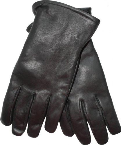 German Wear Lederhandschuhe Lammnappa Handschuhe echtleder winter Handschuhe, 7=S Handumfang 19cm, GL-3 Schwarz