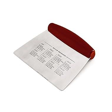 KitchenAid Gourmet Multi-Purpose Dough Scraper and Chopper, Red