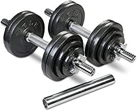 TELK Adjustable Dumbbells (Total 65 LBS Pair) with Gloss Finish and Secure Collars, 65 with Connector, 105 to 200 lbs