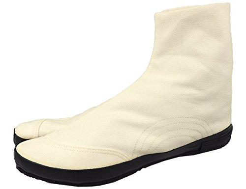 [ムーンスター] 日本製 メンズ レディース スニーカー 地下足袋 キャンバス ジカタビ FINE VULCANIZED MNS029 5432094 ホワイトブラック 25cm