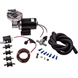 Electric Vacuum Pump Kit for Brake Booster 12 Volt 18' to 22' w/Vacuum Hose